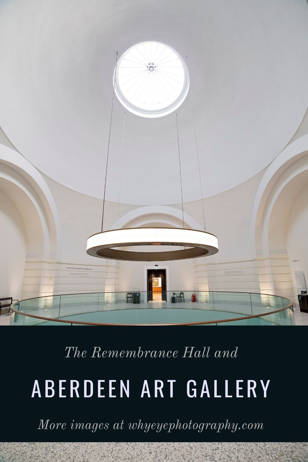Pinterest pin for Go Eat Do's blog post on Aberdeen Art Gallery in Aberdeen, Scotland